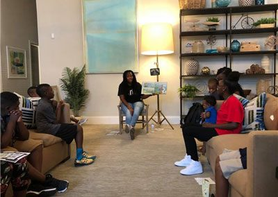 Story time at Pendana at West Lakes apartments in Orlando